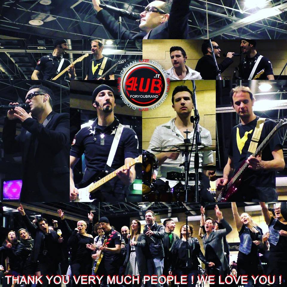 4UB Italian U2 Tribute - Thanks To IBF Italian Beer Festifal Milano