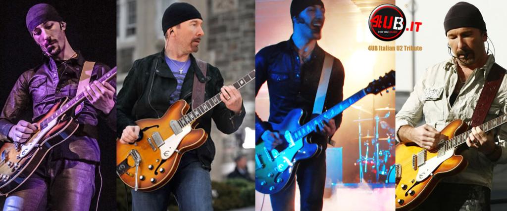 4UB Italian U2 Tribute - Anx & The Edge - Epiphone Casino