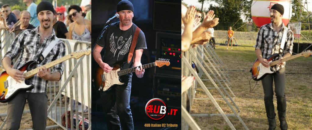4UB Italian U2 Tribute - Anx & The Edge - Fender American Stratocaster Sunburst