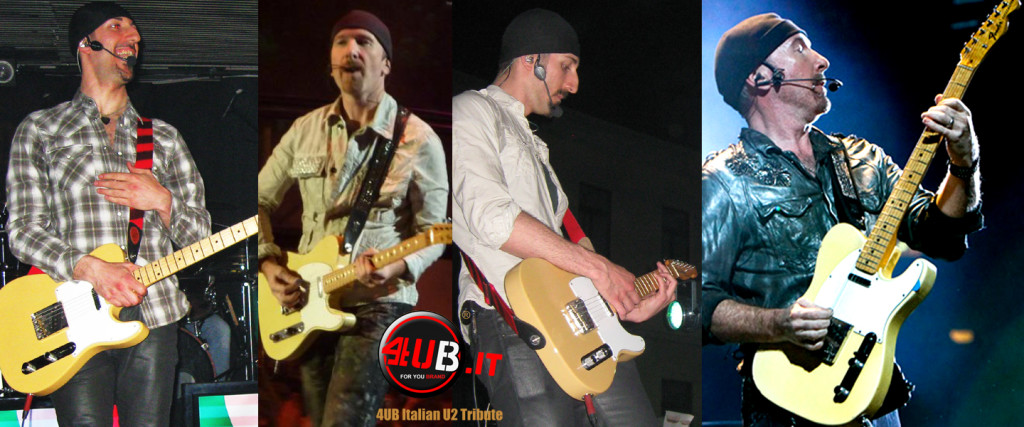 4UB Italian U2 Tribute - Anx & The Edge - Fender American Telecaster Blonde