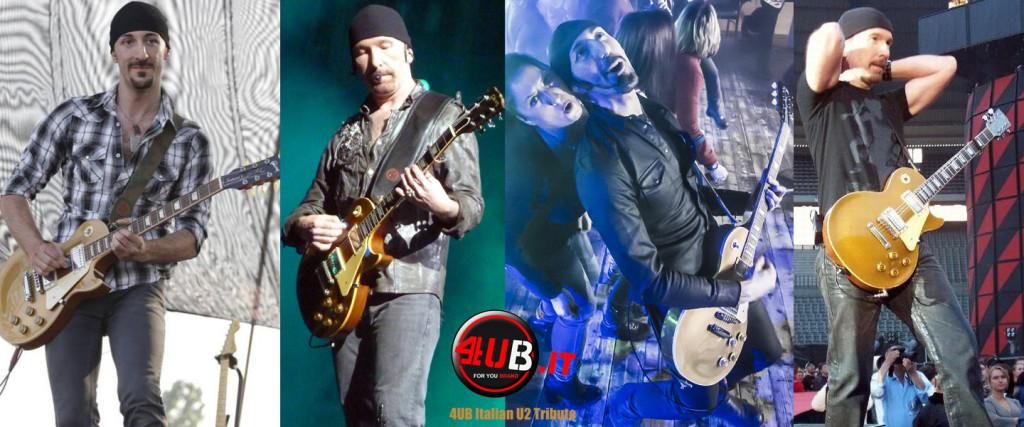 4UB Italian U2 Tribute - Anx & The Edge - Gibson Les Paul Standard Gold Top