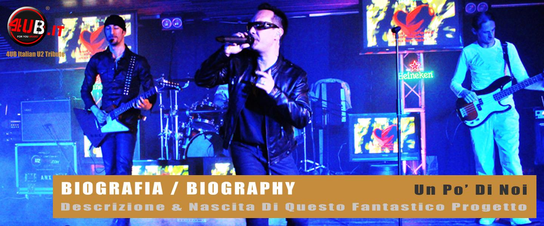 4UB Italian U2 Tribute - Biografia