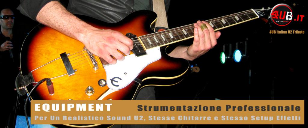 4UB Italian U2 Tribute - Equipment